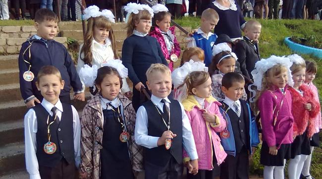 1 сентября в Большесосновской школе